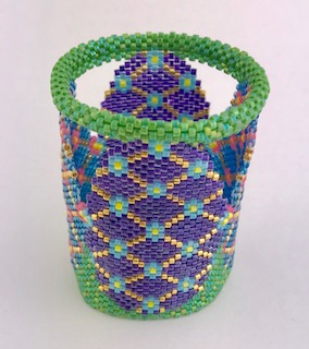 Faberge Egg, Candle Cover, Bead Jungle, beading classes, Easter, peyote stitch,Easter eggs, beaded, Delica