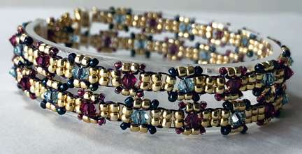 Chain of Jewels by Valerie Catallozzi©2020, Bead Weaving Class, Daisy Chain Stitch, Wrap Bracelet, Chain Necklac