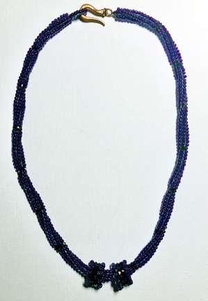Crystal Tornado by Valerie Catallozzi©2020, Herringbone Spiral, Rope, Necklace, Crystal Slides, Bead weaving Class