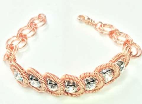 Escapade Bracelet by Corey Milliren ©2019 Class, Wire Work, Cup Chain, Copper wire, Copper Findings