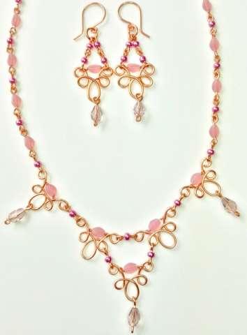 Jubilee Set by Corey Milliren ©2019 Class, Wire Work, Seed Beads, Czech Beads, Copper wire, Copper Findings, Wig Jig tool
