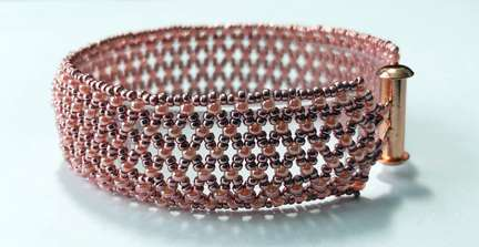 Netted Lace by Valerie Catallozzi©2021, Bead Weaving Class, Netted, Netted Bead Stitch