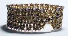 Demi-licious Cuff by Valerie Catallozzi©2021, Bead Weaving Class, Three-Drop Peyote, Peyote, Peyote Stitch, Cuff, Bracelet