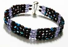 Diamonds Are Forever by Valerie Catallozzi©2020, Diamond Weave Stitch, Beadweaving Class