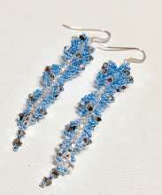 Ice Ice Baby by Valerie Catallozzi©2019, Spiral Crystal stitch, Icicle Earrings, Holiday Gift, Bead Weaving Class