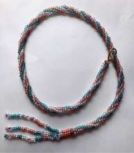 Licorice Lariat by Valerie Catallozzi©2020, Tubular Brick Stitch, Rope Necklace, Lariat Necklace