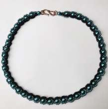 Night and Day by Valerie Catallozzi©2020, Picot Stitch, Necklace, Collar, Bead Weaving Class