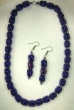 Pom Pom Beads by Valerie Catallozzi©2021, Bead Weaving Class, Spiral Stitch, Necklace, Earrings, Vintage Bead, Retro Bead